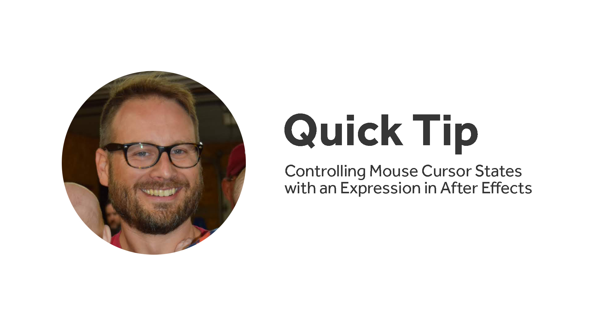 After Effects QuickTip: Animating Mouse Cursor States with an Expression